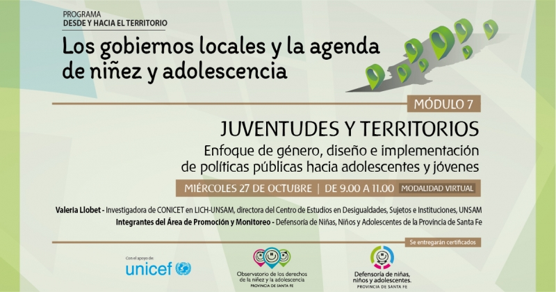 """""""Juventudes y territorios"""", en la capacitación a gobiernos locales"""